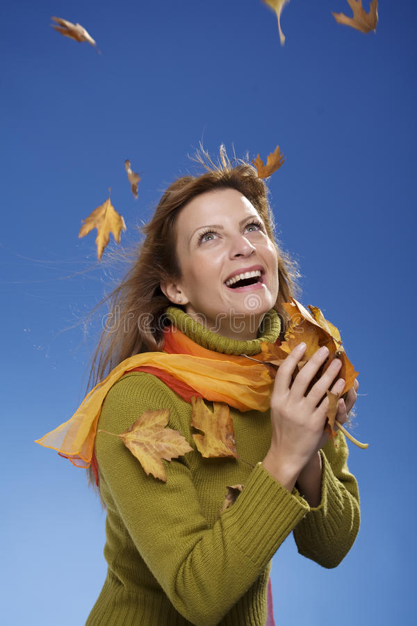 Het spel van de herfst stock afbeeldingen