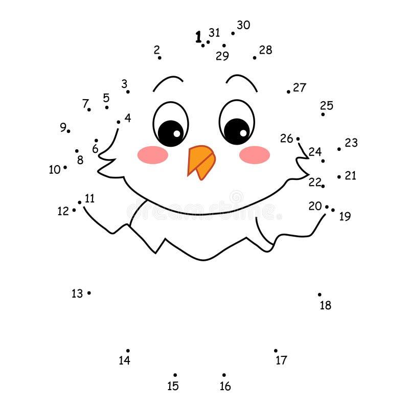 Het spel van de punten, het kuiken vector illustratie
