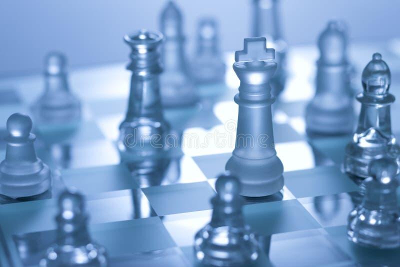 Het Spel van de Raad van het schaak stock afbeeldingen