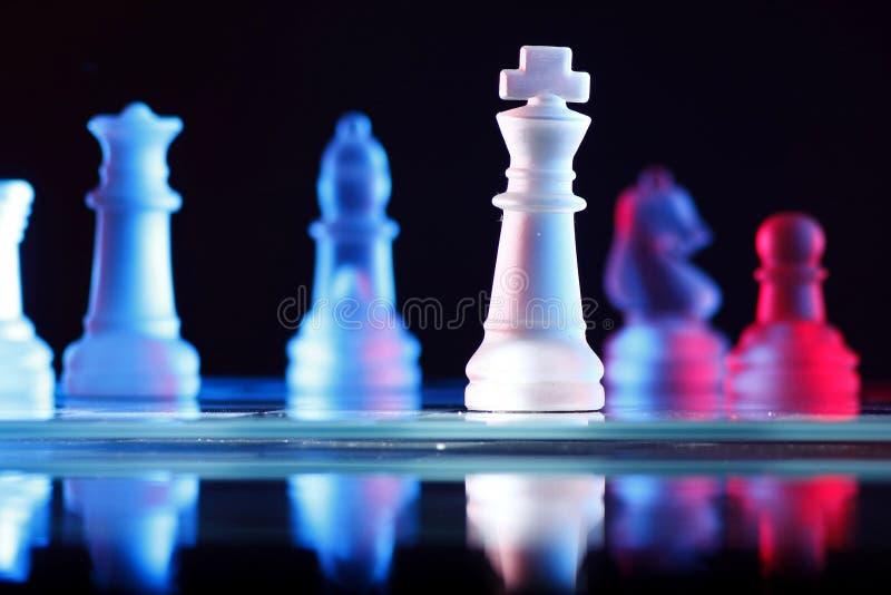 Het Spel van de schaakraad stock foto