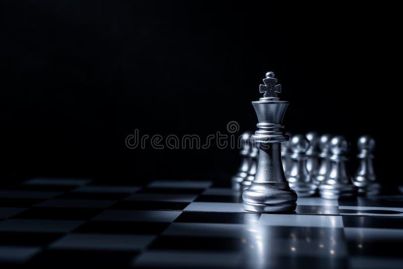Het spel van de schaakraad voor bedrijfsconcept royalty-vrije stock afbeelding