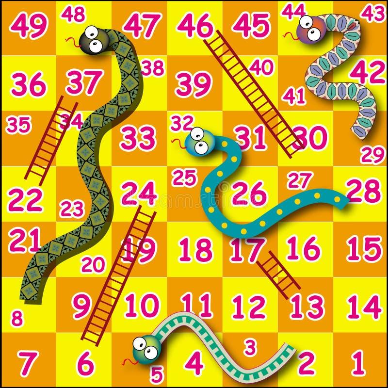 Het spel van de slang stock afbeelding