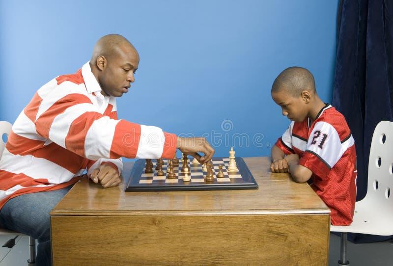 Het spel van de vader en van de zoon royalty-vrije stock afbeelding