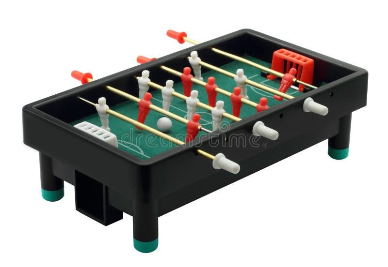 Het Spel van de Voetbal van het stuk speelgoed royalty-vrije stock foto's