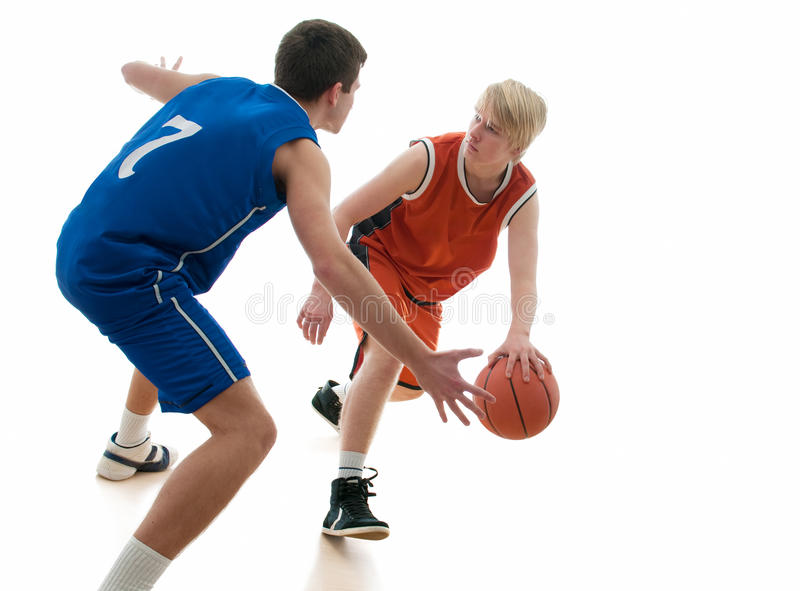 Het spel van het basketbal royalty-vrije stock afbeelding