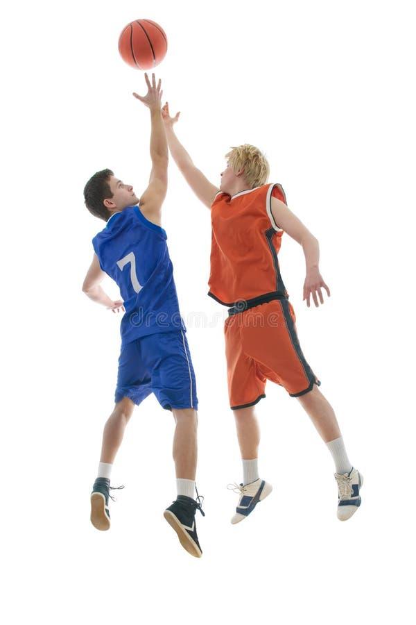 Het spel van het basketbal stock foto