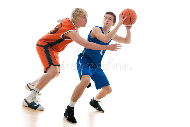 Het spel van het basketbal stock afbeeldingen