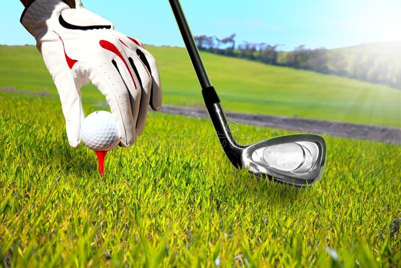 Het spel van het golf stock foto's