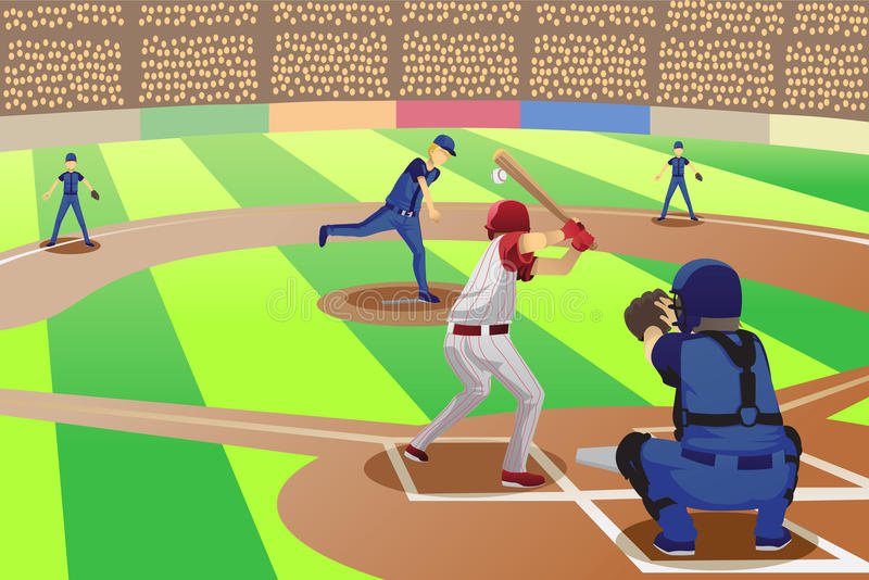 Het spel van het honkbal vector illustratie