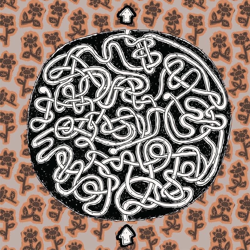 Het Spel van het Labyrint van de bol royalty-vrije illustratie