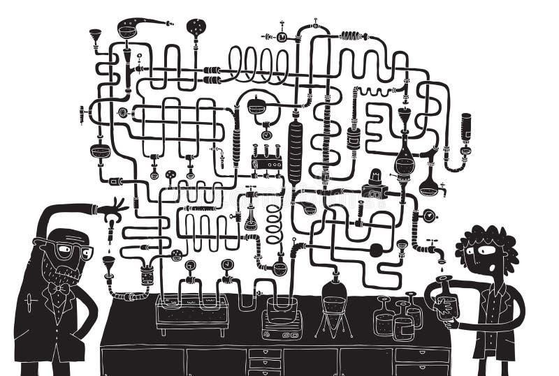 Het Spel van het Labyrint van het laboratorium royalty-vrije illustratie