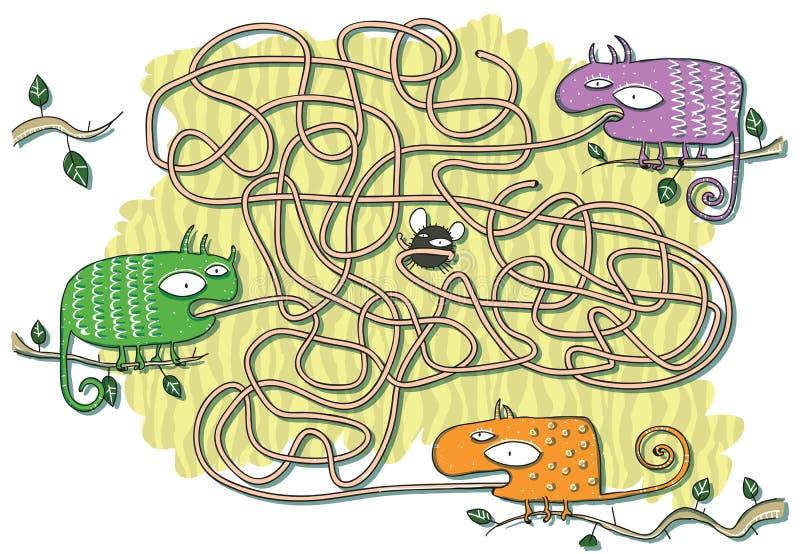 Het Spel van het Labyrint van kameleonen vector illustratie