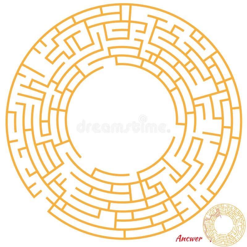 Het spel van het labyrint voor jonge geitjes vector illustratie