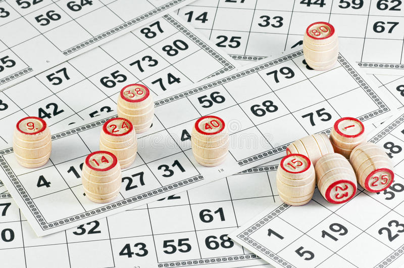 Het spel van het lotto stock foto