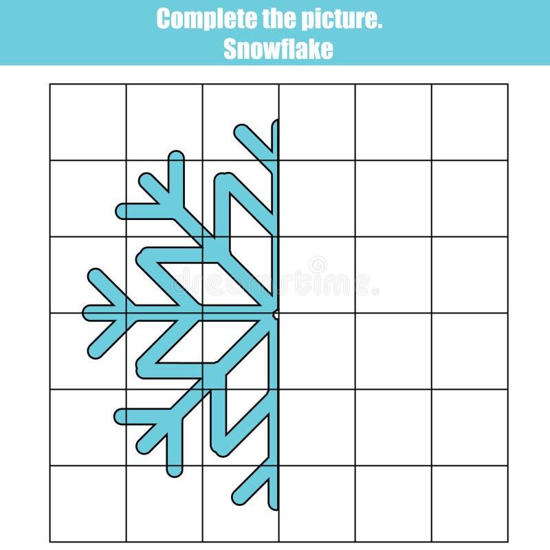 Het spel van het netexemplaar, voltooit de beeld onderwijskinderen vector illustratie