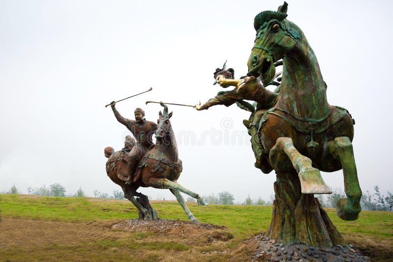 Het Spel van het polo in Oud China royalty-vrije stock afbeeldingen