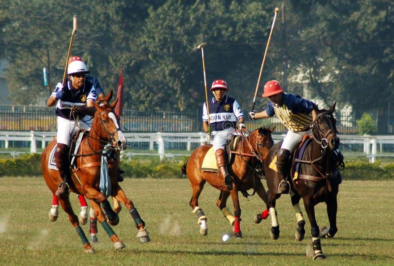 Het Spel van het polo van kolkata-India royalty-vrije stock foto's