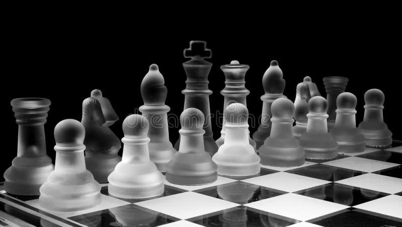 Het spel van het schaak stock afbeeldingen