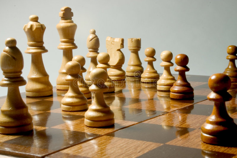 Het Spel van het schaak stock foto's