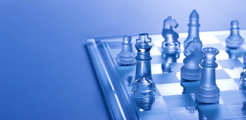 Het Spel van het Schaak van de schaakmat stock foto