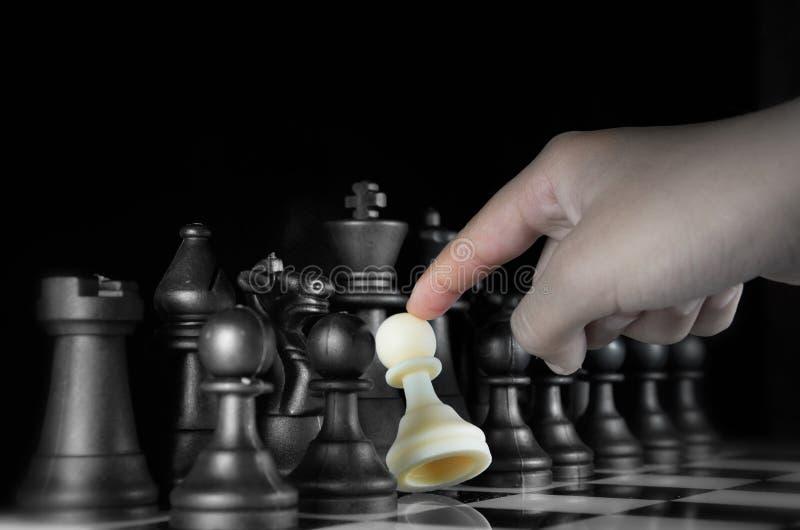 Het Spel van het Schaak van de strategie royalty-vrije stock foto