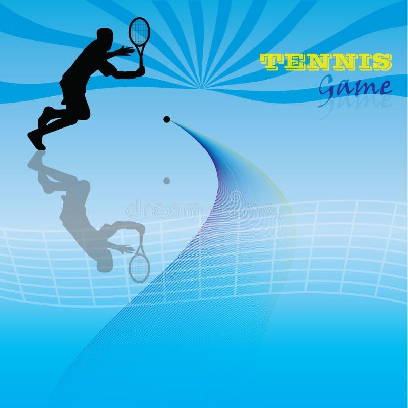 Het spel van het tennis royalty-vrije illustratie