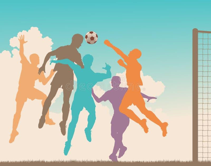 Het spel van het voetbal royalty-vrije illustratie