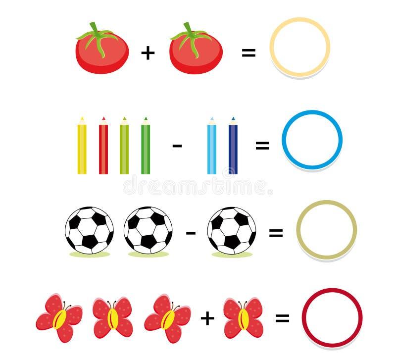 Het spel van Math, deel 2 royalty-vrije illustratie