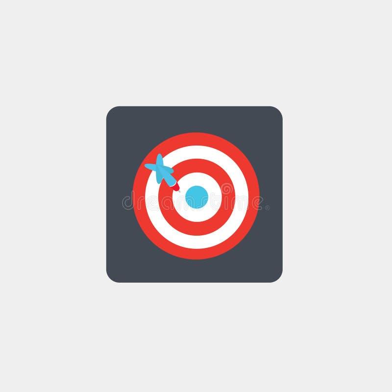 Het spel van pijltjes dartboard pictogram embleem Vector illustratie Eps 10 stock illustratie