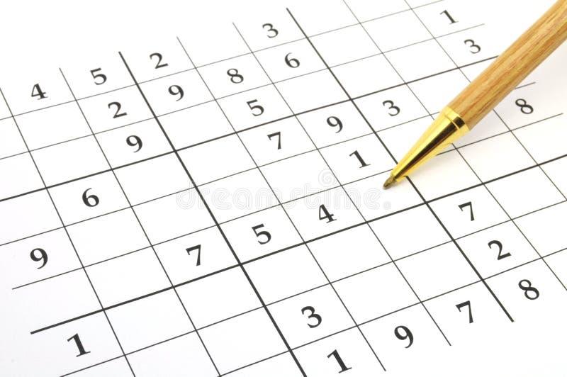 Het spel van Sudoku stock afbeeldingen