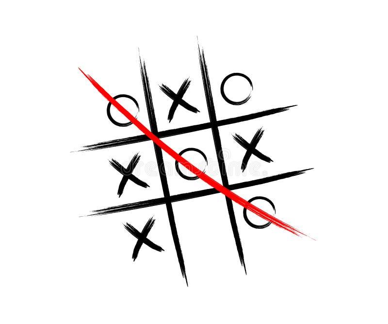 Het spel van tictac toe vector illustratie
