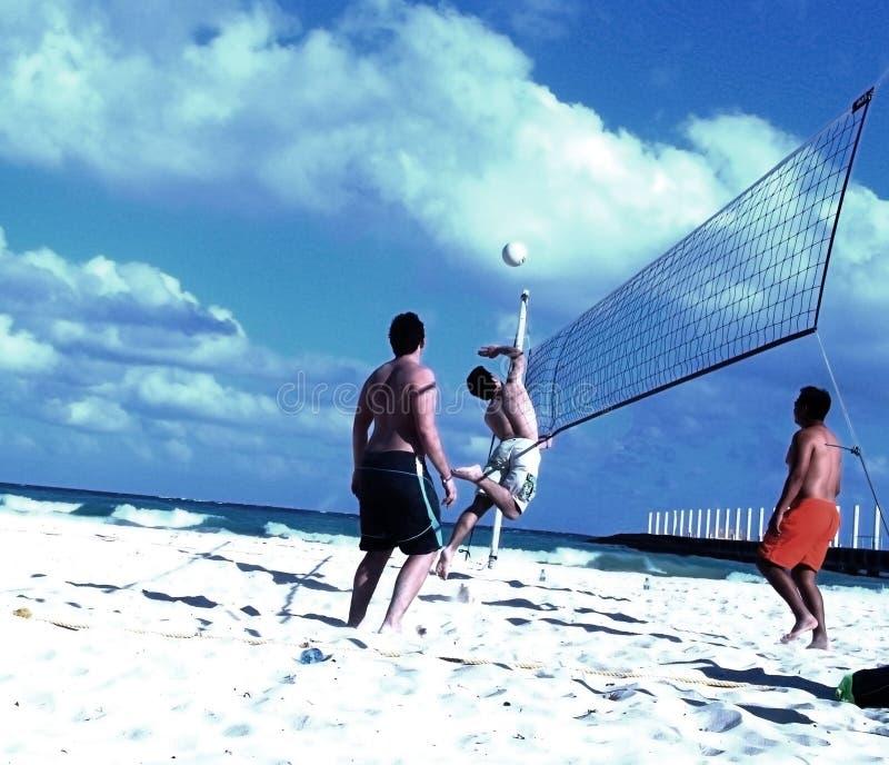 Het Spel van Volleybal stock afbeelding