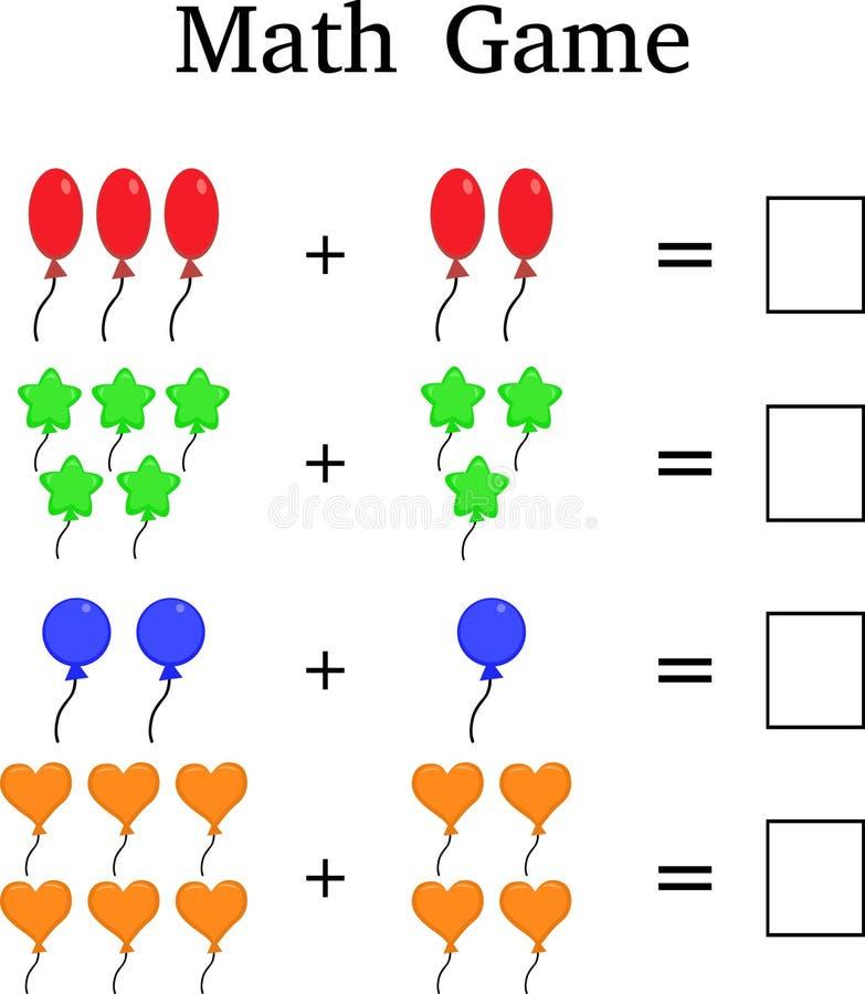 Het spel van wiskundeeduactional voor jonge geitjes stock illustratie