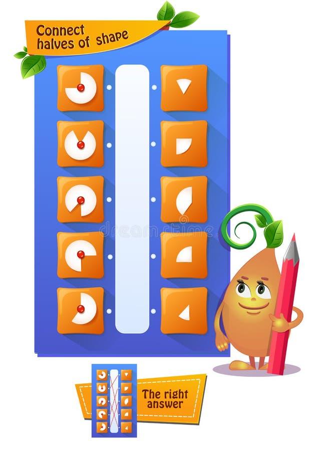 Het spel verbindt de helfteniq royalty-vrije illustratie