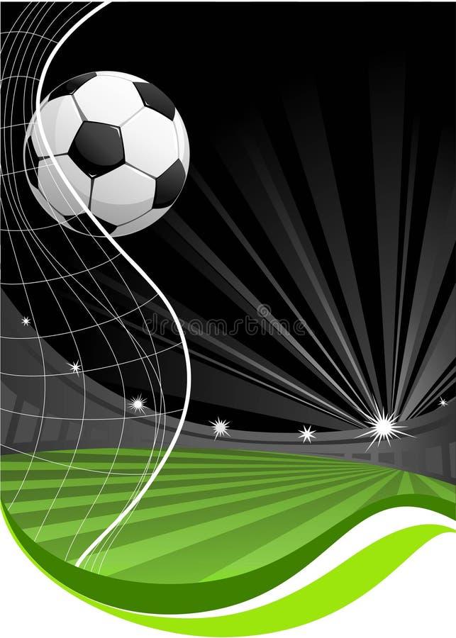 Het spelachtergrond van het voetbal royalty-vrije illustratie