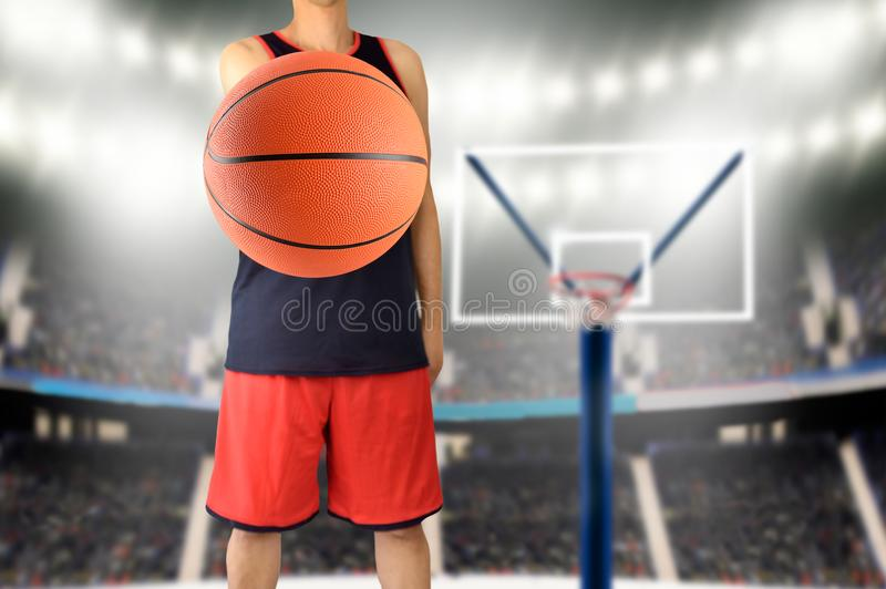 Het spelbasketbal van Letroyalty-vrije stock afbeelding