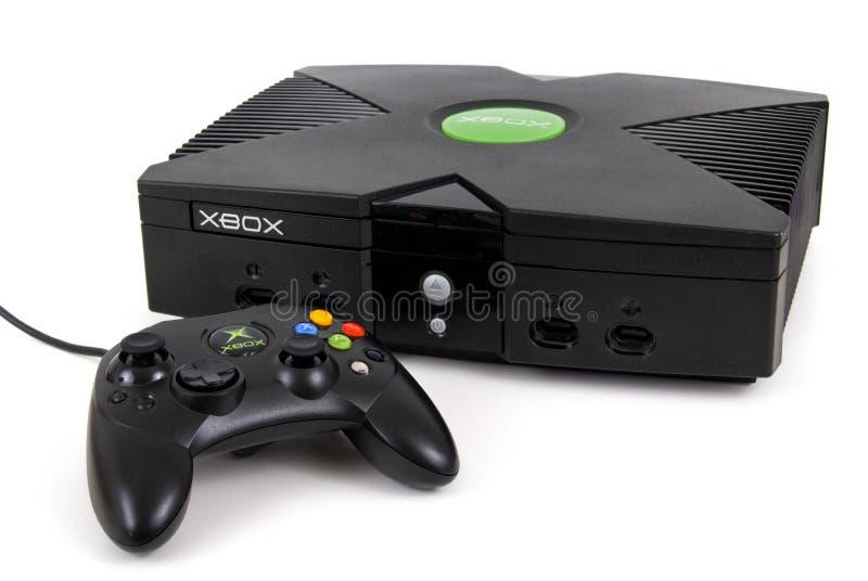 Het Spelconsole en controlemechanisme van Microsoft XBOX royalty-vrije stock afbeeldingen