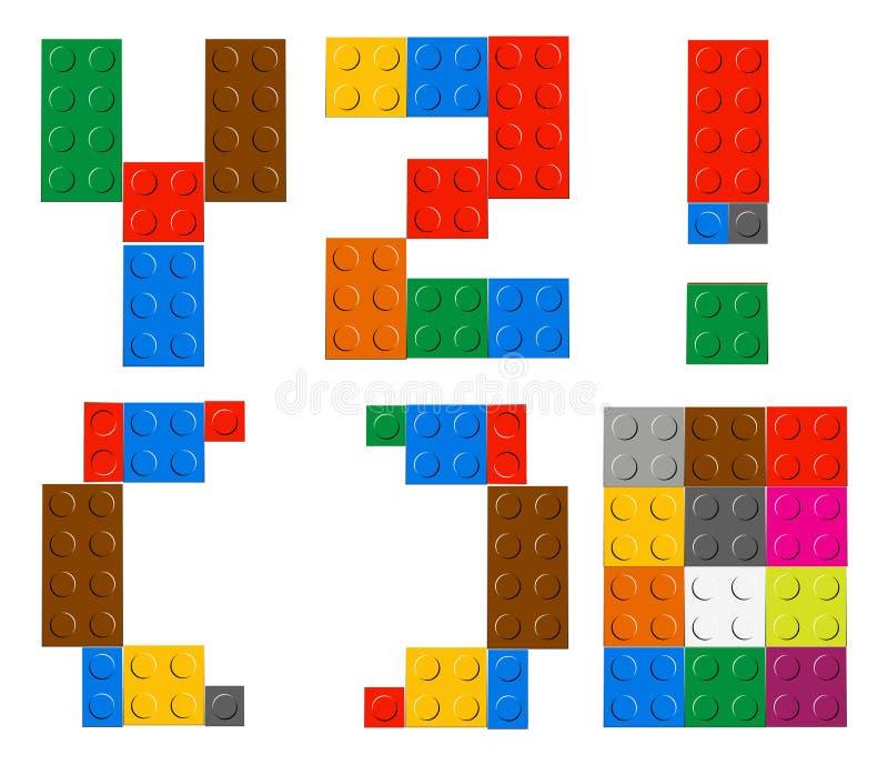 Het spelen baksteenstuk speelgoed alfabetbrieven vector illustratie