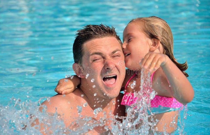 Het spelen in de pool. royalty-vrije stock foto's