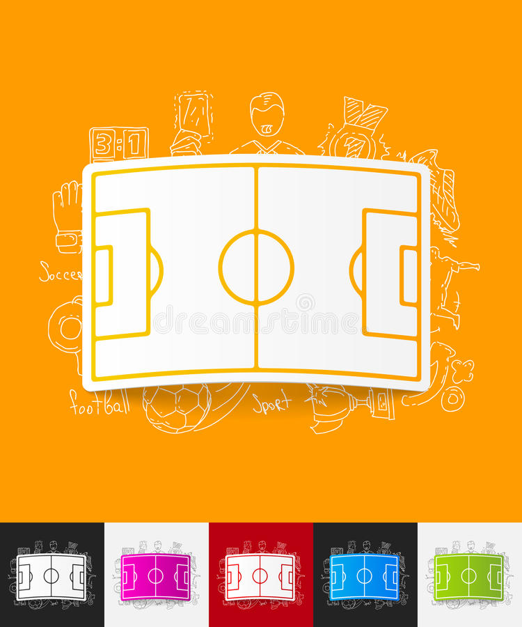 Het spelen gebiedsdocument sticker met hand getrokken elementen vector illustratie