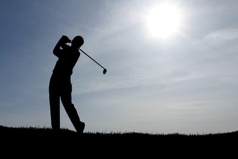 Het spelen Golf Blauwe Hemel stock afbeeldingen