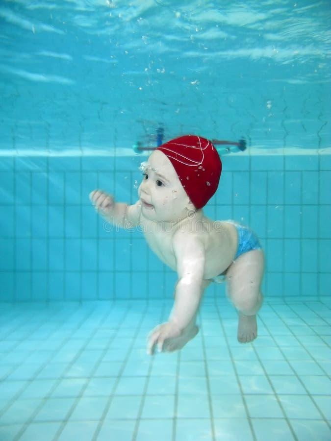Het spelen in het zwembad