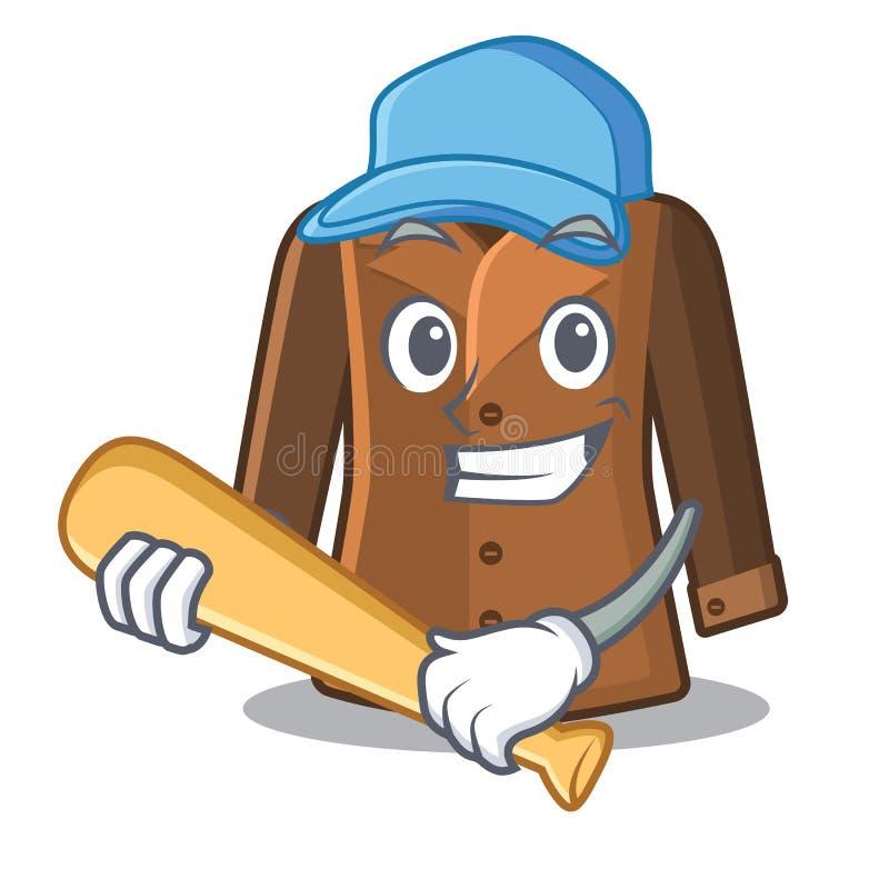 Het spelen honkballaag in karaktervorm royalty-vrije illustratie