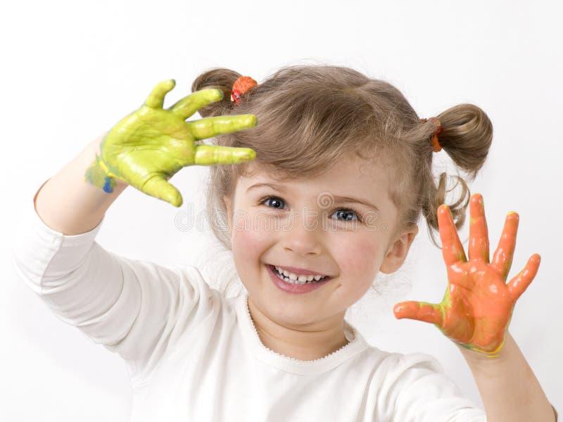 Het spelen met kleuren stock fotografie