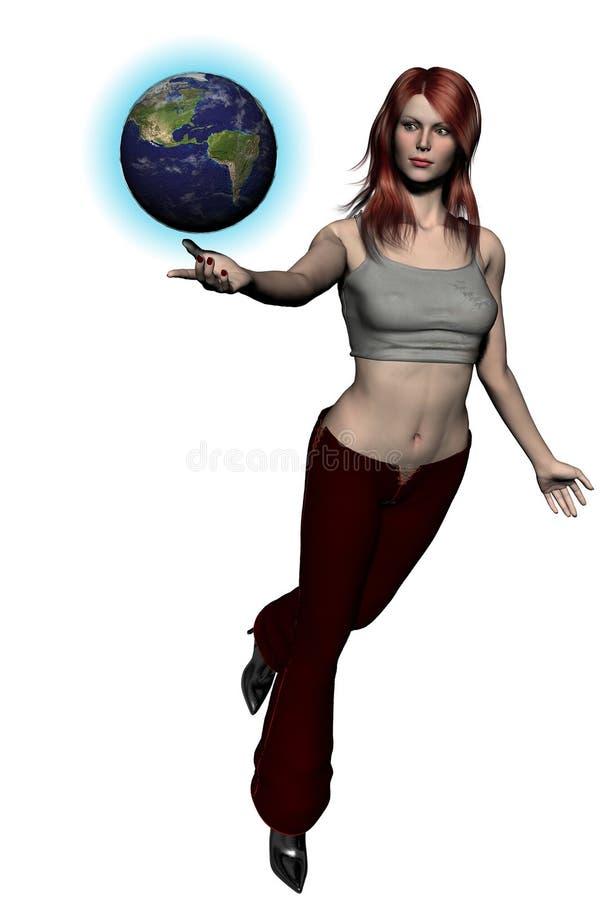 Het spelen met Wereld 01 royalty-vrije illustratie