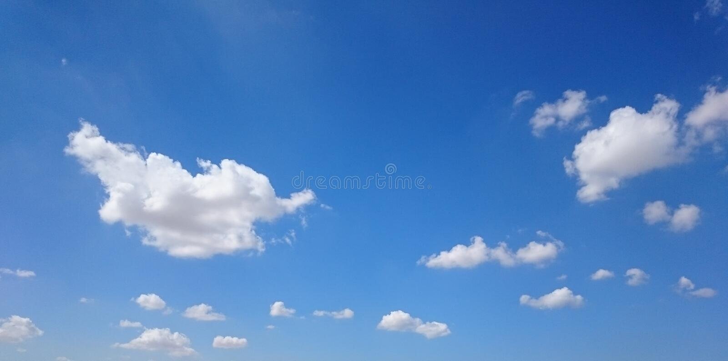 Het spelen met wolken royalty-vrije stock fotografie