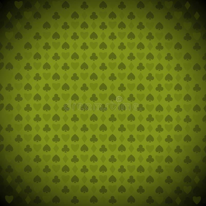 Het spelen, pook, het symboolachtergrond van blackjackkaarten royalty-vrije illustratie