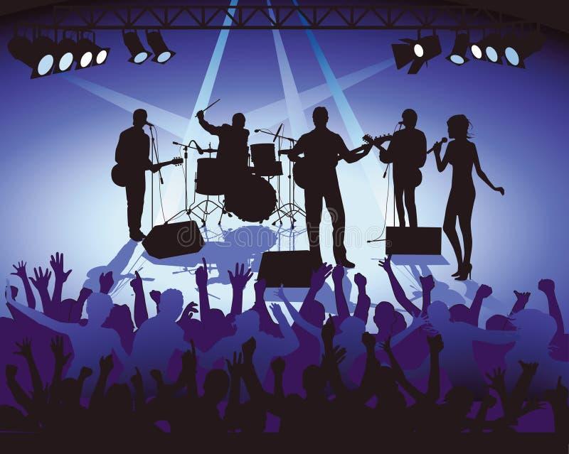 Het spelen van de band in overleg   vector illustratie