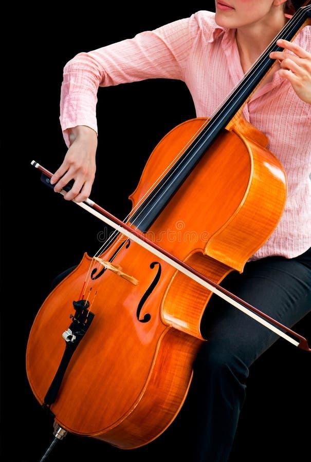 Het spelen van de Cello royalty-vrije stock fotografie