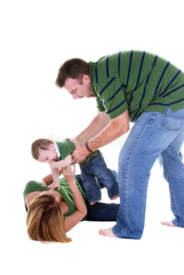 Het spelen van de familie stock foto